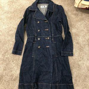Old Navy denim trench coat szS
